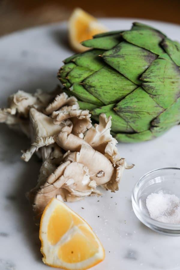 Uncooked artichoke