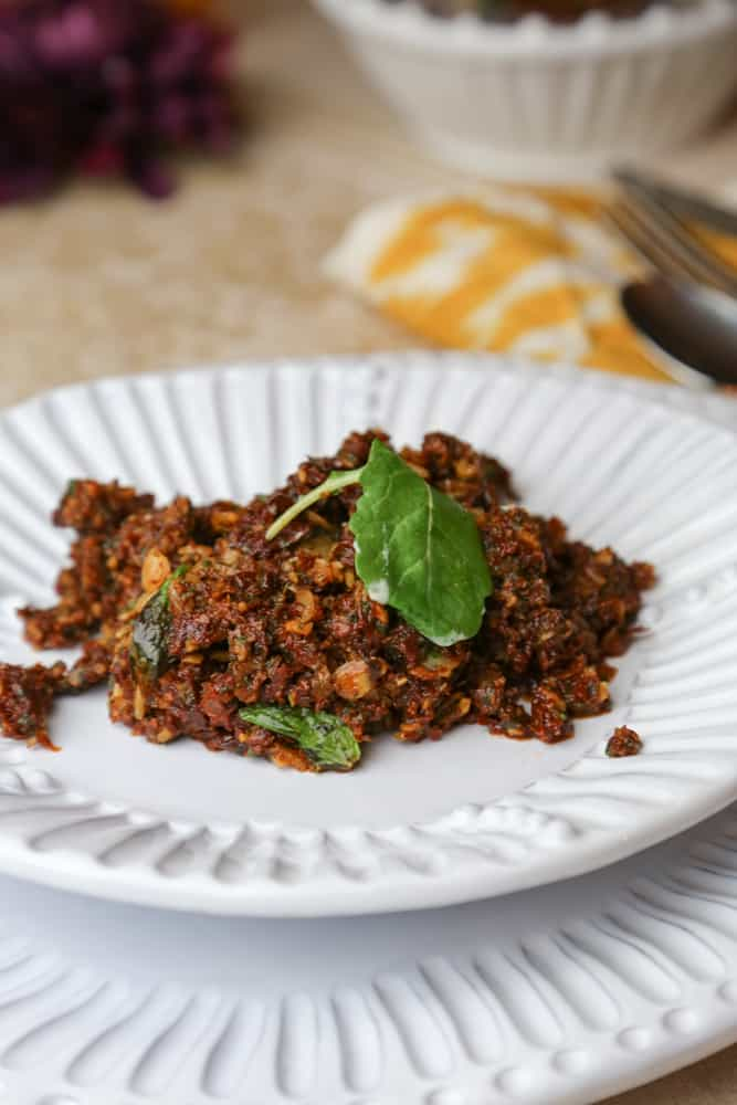 , Sundried Tomato Tapenade with Almonds and Mint