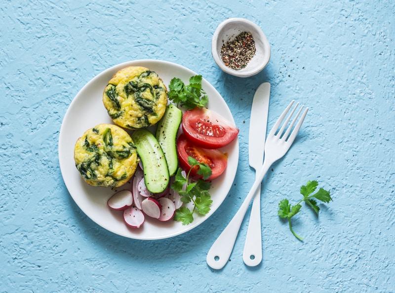 , Mini Frittatas with Lacinato Kale and Leeks